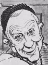 Drawn Picture of Burgess Meredith