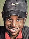 Drawn Picture of Tiger Woods