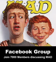 Become a member of the MAD Magazine and Alfred E. Neuman Collectors Group on Facebook!