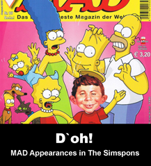 MAD Appearances in The Simpsons