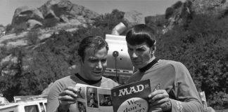 William Shatner and Leonard Nimoy reading MAD