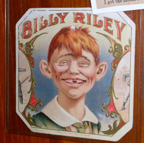 Billy Riley cigar label adverstising