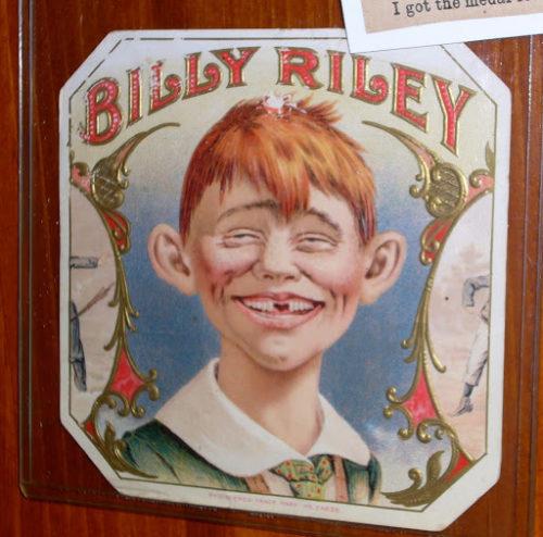 Billy Riley cigar label adverstising