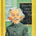 Alfred Einstein (Backcover German MAD #96)