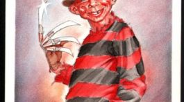 MAD back cover artwork 'Freddy Krueger - A nightmare on Elm street'