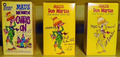 All three Don Martin paperback gift sets in a row