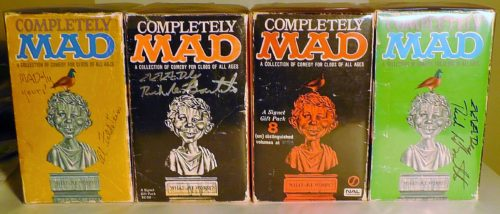 Some of the 'Completely MAD' Gift Sets in a row