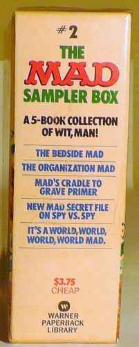 The MAD Sampler Box is a collection of wit, man! Paperback Gift set Side View