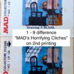 Fleer Goes MAD - #1-9 difference MADs Horrifying Cliches on 2nd printing