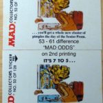 Fleer Goes MAD - #53-61 difference MAD ODDS on 2nd printing