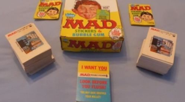 Fleer Goes MAD Trading Cards with display box
