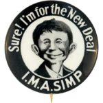 Presidential campaign pinback button, 1932