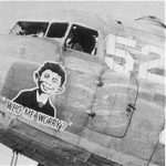 """""""Who - Me Worry?"""" nose art on a Douglas C-47 transport aircraft, WWII"""