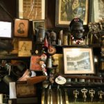 Alfred hangs over the taps at McSorley's Old Ale House in the East Village of New York City, established 1854