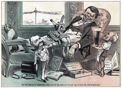 Irish politician Denis Kearney as portrayed in PUCK Magazine, 1877