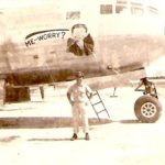 """Me-Worry?"" nose art on a B-29 Bomber, WWII"