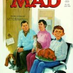MAD #248 cover art by Richard Williams, the last of Kurtzman's doodle-filled logos
