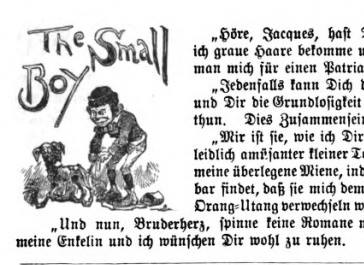 """The Small Boy"" detail in PUCK Magazine, 1889"