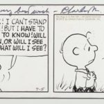 PEANUTS original art gifted to Al Feldstein by Charles M. Schulz