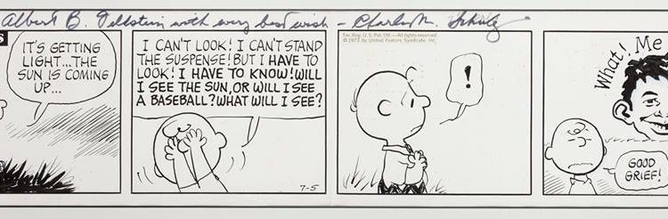 PEANUTS original art gifted to Al Feldstein by Charles M. Schulz
