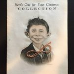 Christmas greeting card with red string tie, 1930's-40's
