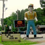 """Happy Half-Wit"" Muffler Man outside of Mr. Bill's Carhop in Winslow, New Jersey"