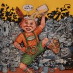 """Original art, for """"50 years of MAD in Germany"""", by Tom Bunk (Owner Michael Elias)"""