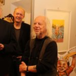 The Opening Night at the Exhibition, from left to right: Heiner Luenstedt, Ivica Astalos and Dieter Frederic Stein.