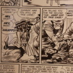 """A closer look at the original artwork of """"Kane Keen!"""", from MAD #5, by Jack Davis."""