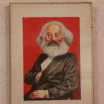 Alfred E. Neuman as Karl Marx, by Horst B. Baerenz, for German MAD #55. (Owner Herbert Feuerstein)