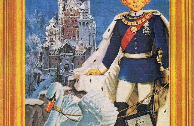 """""""König Alfred von Bayern"""", MAD #177, by Rolf Trautmann."""