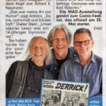 Comic Festival article from BILD Zeitung, with Bunk, Stein and Astalos.