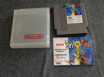 Old 'Spy vs. Spy ' console game for the Nintendo Entertainment system