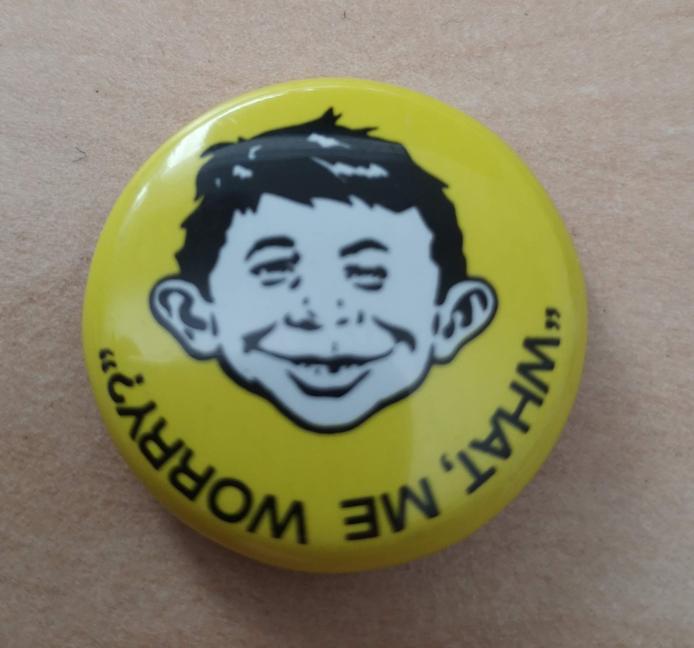 Yellow Alfred Face Button