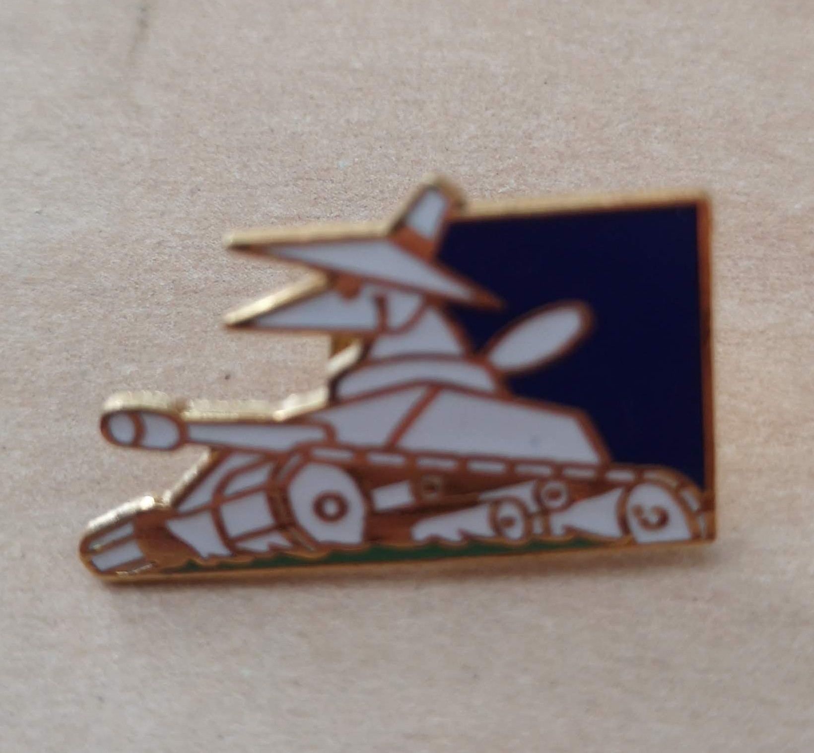 Spy Tank Label Pin (Version 2)