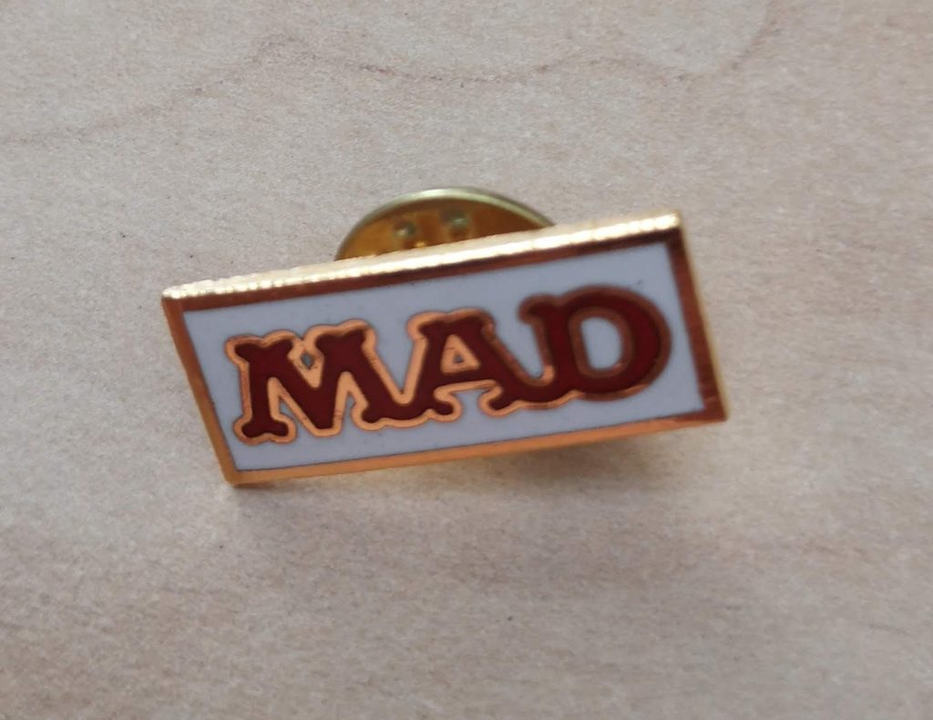 MAD Logo Label Pin