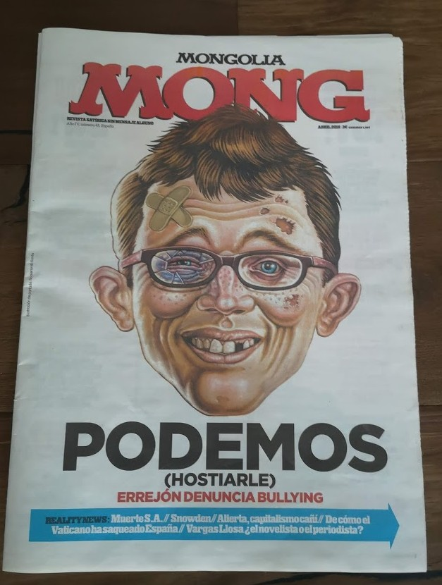 Spanish 'Mong ' newspaper with Alfred Cameo