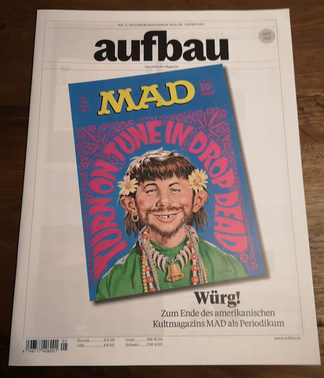 German Jewish Magazine 'Der Aufbau ' with MAD related cover and more!