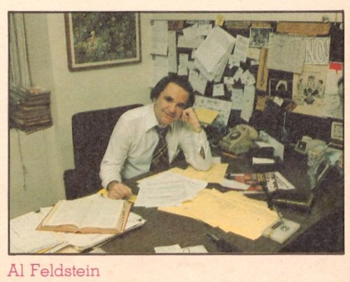 Al Feldstein sitting at his desk