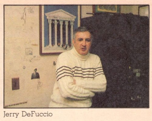 Jerry DeFuccio in the MAD office