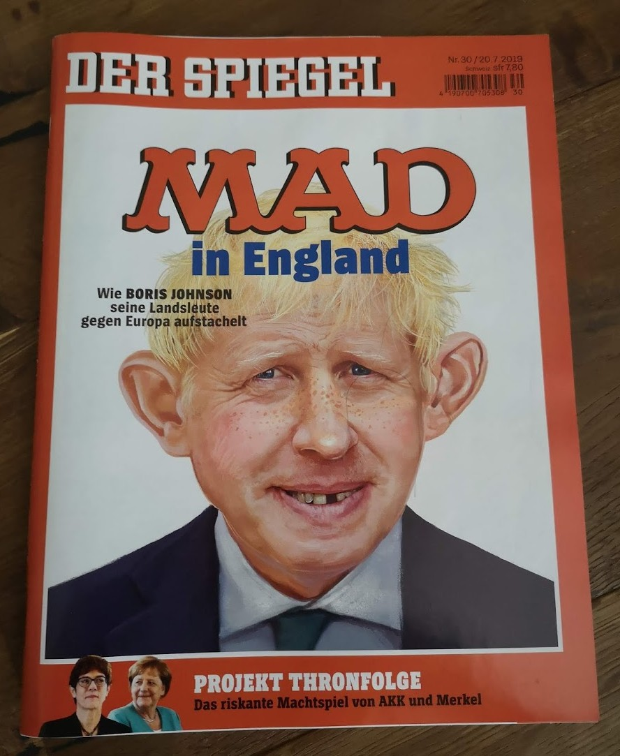 Der Spiegel (German News Magazine) with Alfred on cover