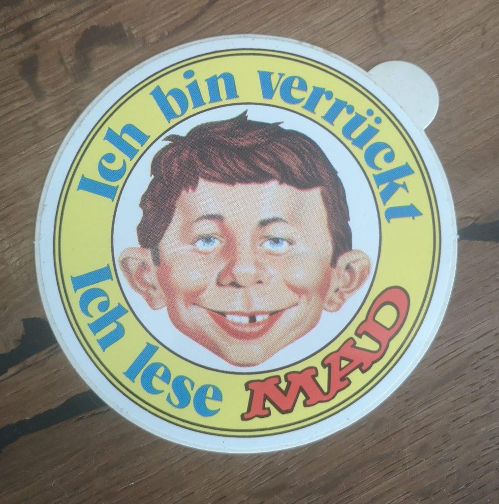 """German """"Ich lese MAD"""" Sticker Yellow"""