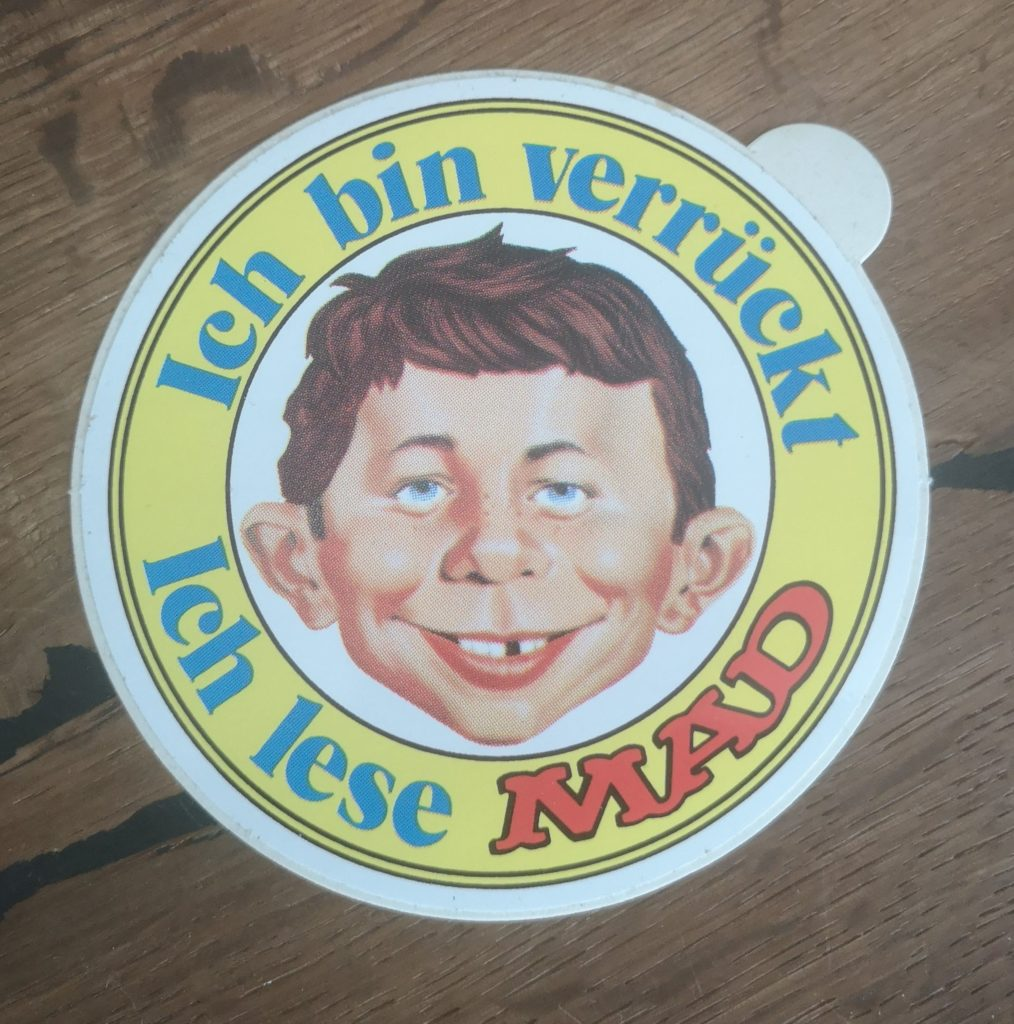 German MAD Sticker Yellow