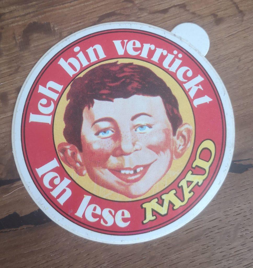 German MAD Sticker Red