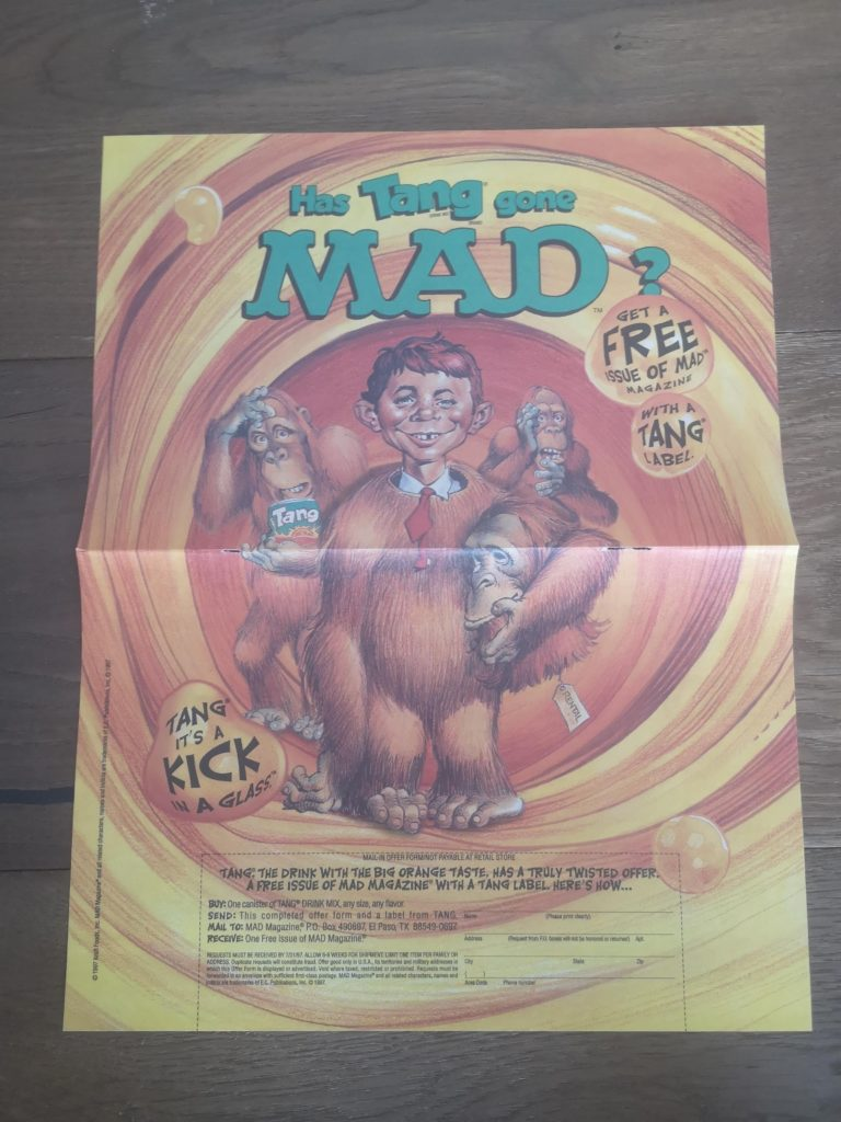 MAD Themed Tang Promotional Mini Poster
